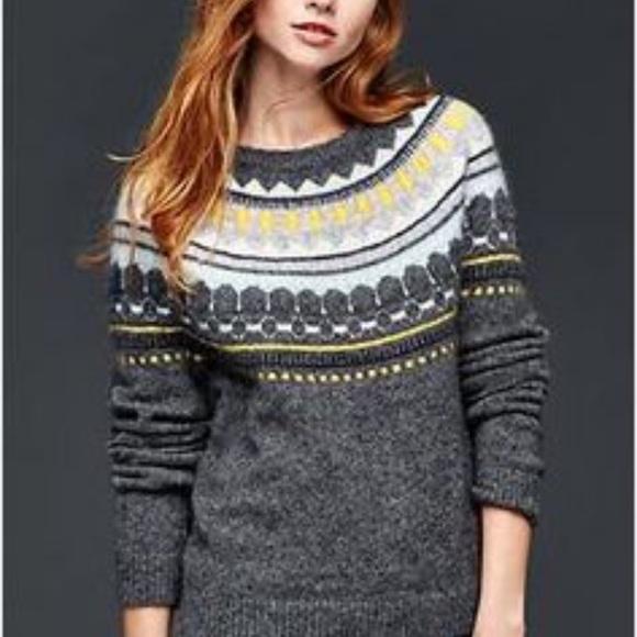 77% off GAP Sweaters - Gap circular fair isle sweater from ...
